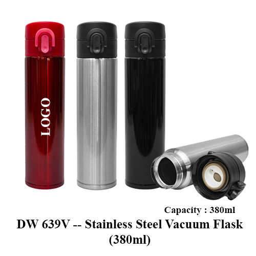 DW 639V — Stainless Steel Vacuum Flask (380ml)