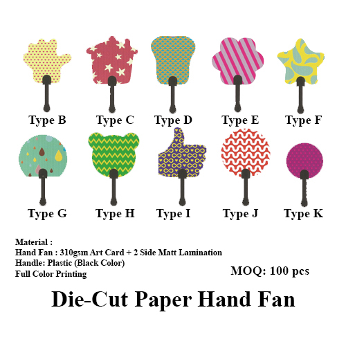 Die-Cut Paper Hand Fan