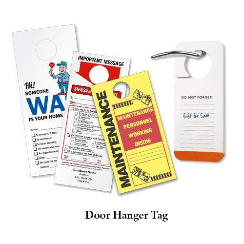 Door Hanger Tag