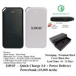 E891P -- Quick Charge 3.0 + Power Delivery Powerbank (10,000 mAh)