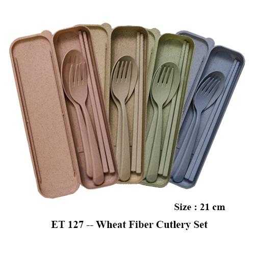 ET 127 — Wheat Fiber Cutlery Set