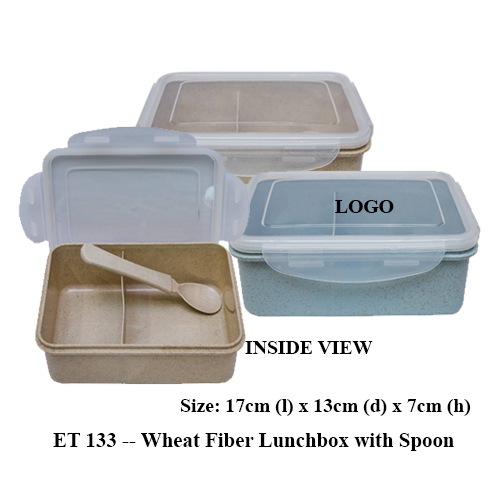 ET 133 — Wheat Fiber Lunchbox with Spoon