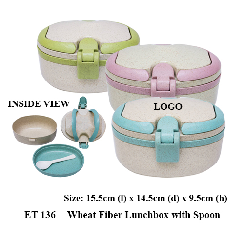ET 136 — Wheat Fiber Lunchbox with Spoon