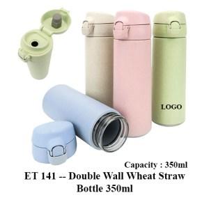 ET 141 Double Wall Wheat Straw Bottle 350ml 1 - ET 141 -- Double Wall Wheat Straw Bottle 350ml