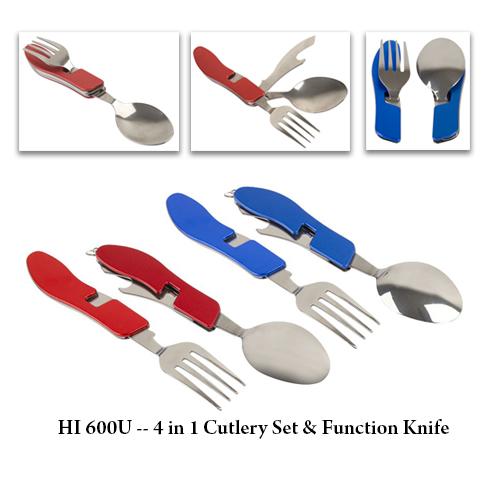 HI 600U — 4 in 1 Cutlery Set & Function Knife
