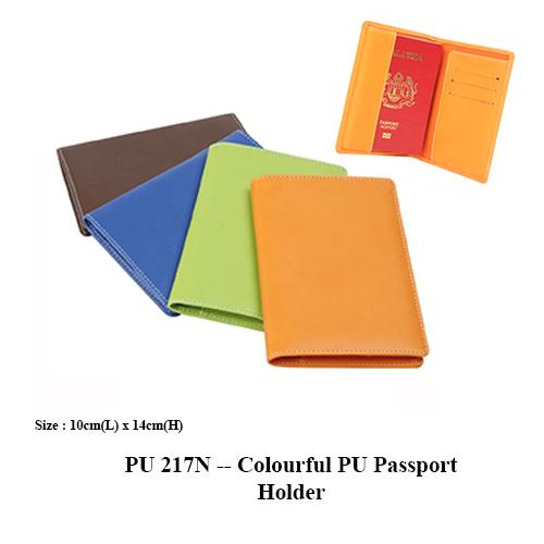 PU 217N — Colourful PU Passport Holder