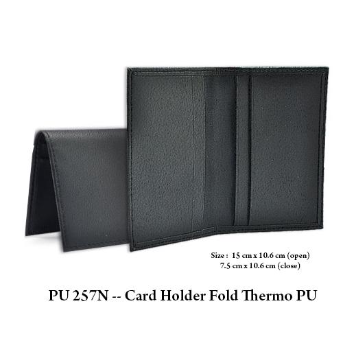 PU 257N — Card Holder Fold Thermo PU