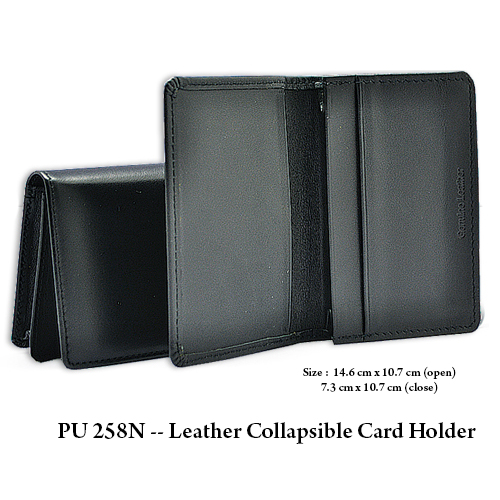 PU 258N — Leather Collapsible Card Holder