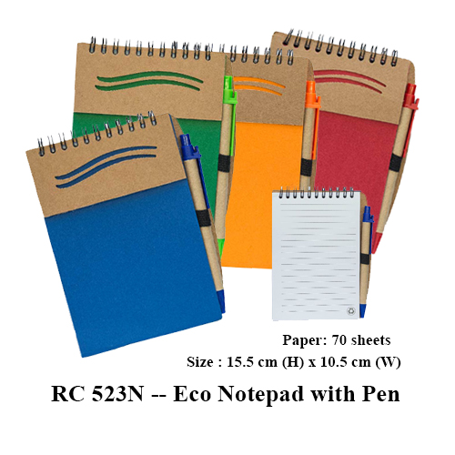 RC 523N — Eco Notepad with Pen