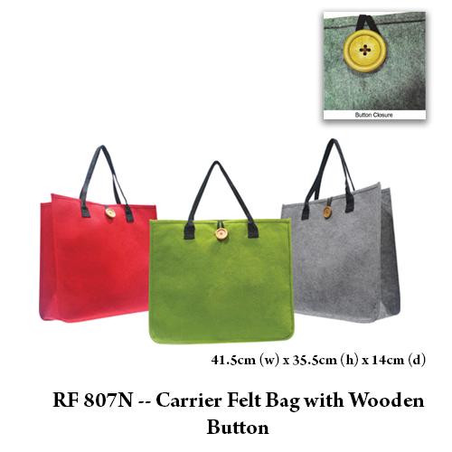 RF 807N — Carrier Felt Bag with Wooden Button
