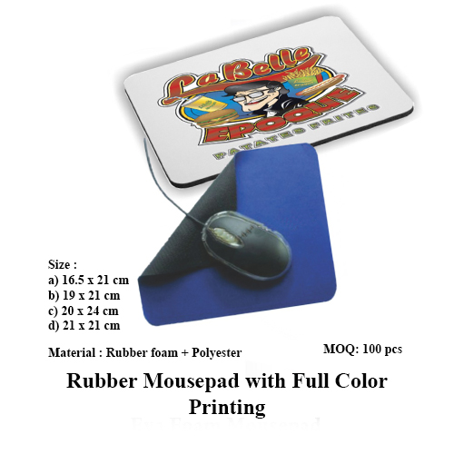 Rubber Mousepad with Full Color Printing