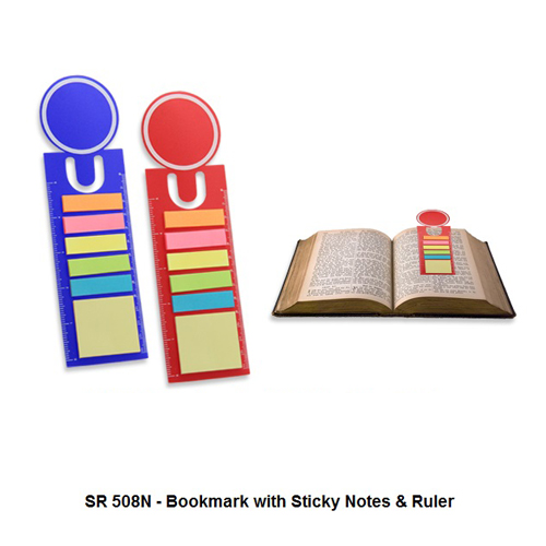 SR 508N – Bookmark with Sticky Notes & Ruler