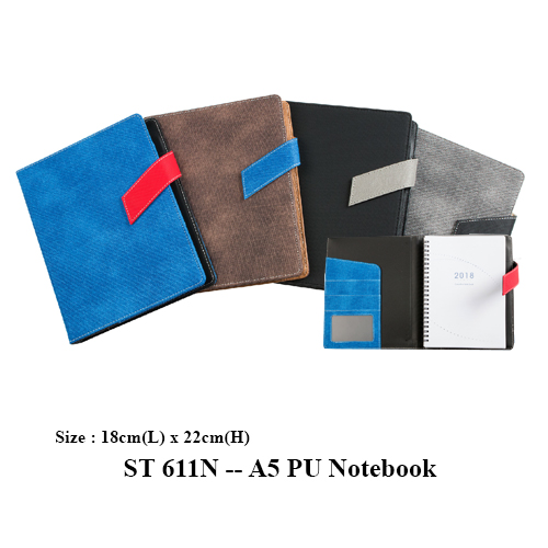 ST 611N — A5 PU Notebook