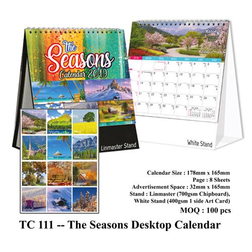 TC 111 — The Seasons Desktop Calendar