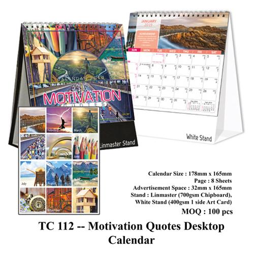 TC 112 — Motivation Quotes Desktop Calendar