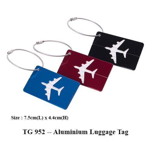 TG 952 — Aluminium Luggage Tag