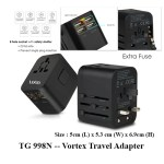 TG 998N Vortex Travel Adapter 1 - DW 642V -- Soho Vacuum Thermal Flask (500ml)