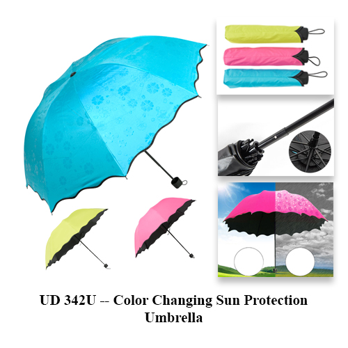 UD 342U — Color Changing Sun Protection Umbrella