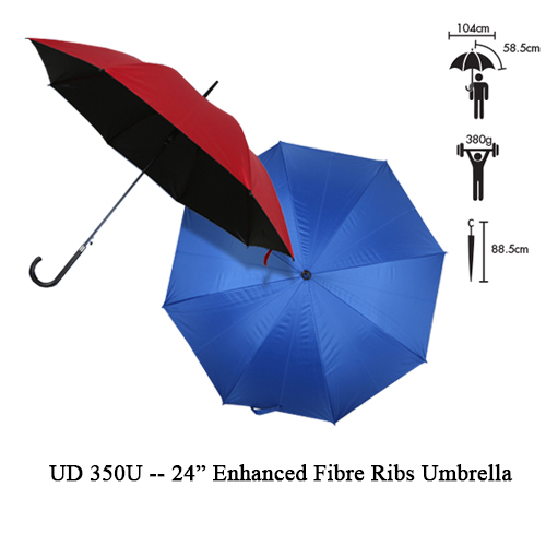 "UD 350U — 24"" Enhanced Fibre Ribs Umbrella"