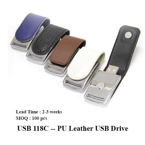 USB 118C — PU Leather USB Drive