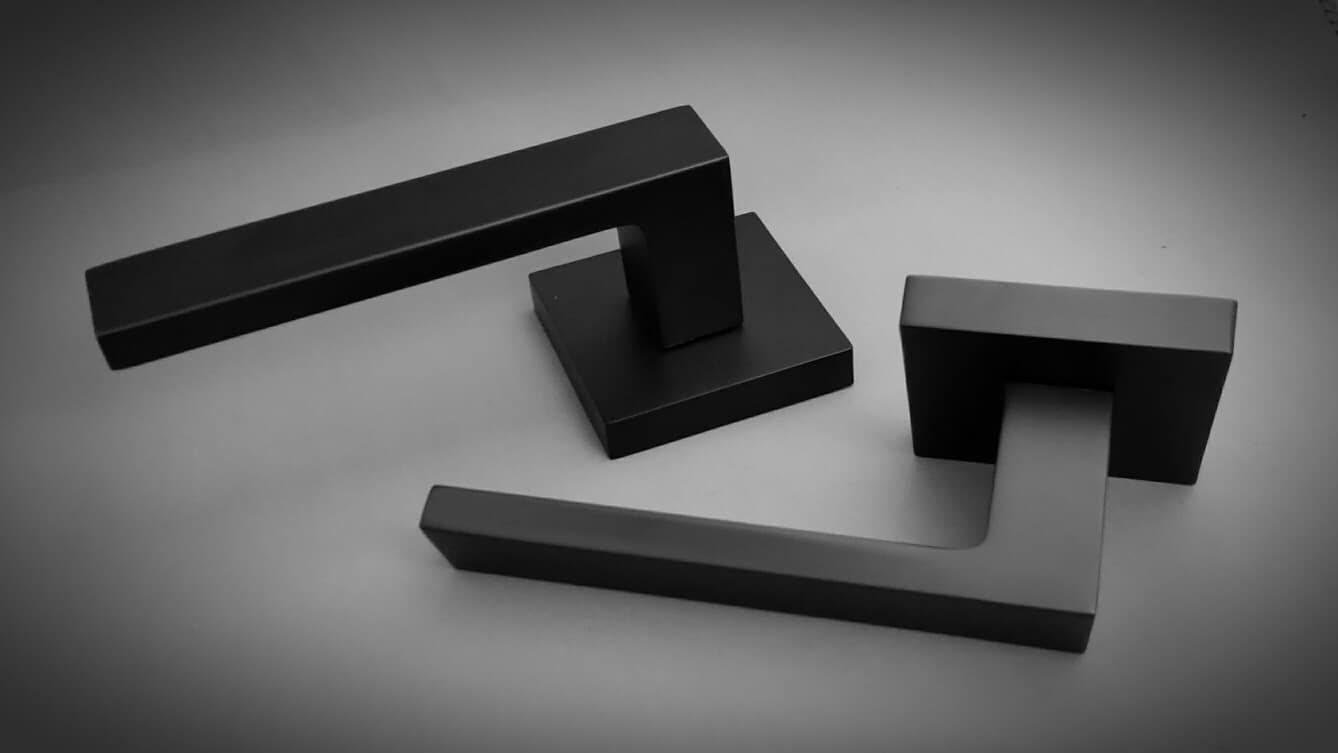 Square Black Lever Handle