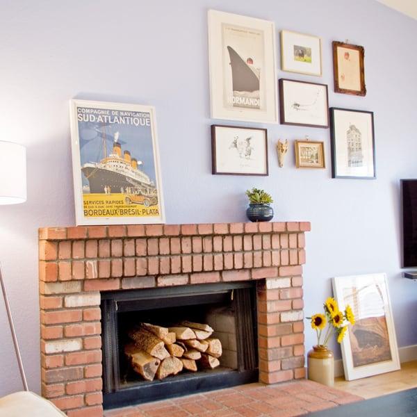 brick-fireplace-picture-arrangement
