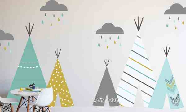 tee pee wall decal