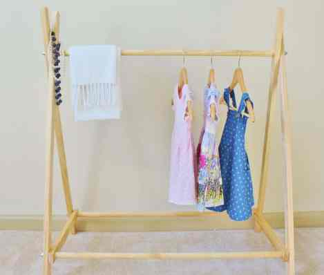 playroom clothes rail