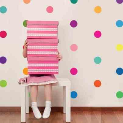 Polka Dot Confetti Wall Art - Kapowboomgraphics