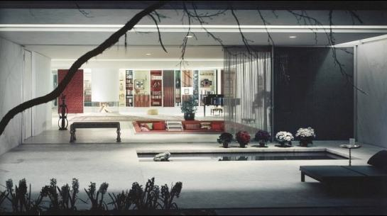 Miller House, Eero Saarinen (1957). Source: home-designing.com