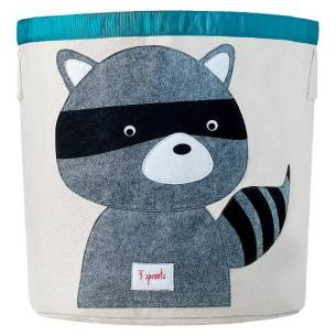 gender neutral kids room raccoon