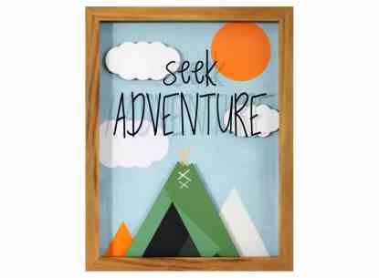 Seek Adventure Framed Art