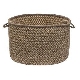 Natural Wool Houndstooth Basket