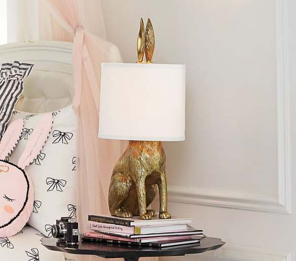 2018 decor trends brass bunny