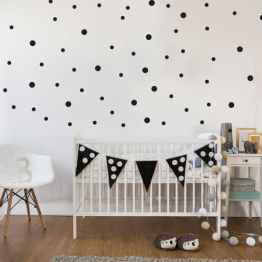 black polka dot decals