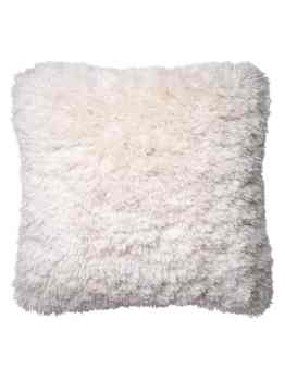 shag ivory pillow
