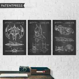 Batman Movie Patent Print