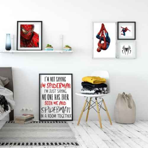 spiderman wall art set