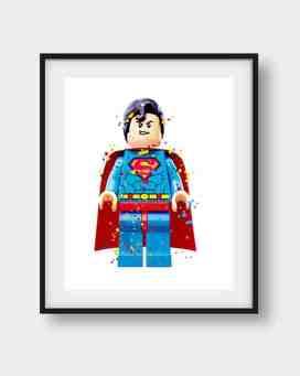 LEGO superman print