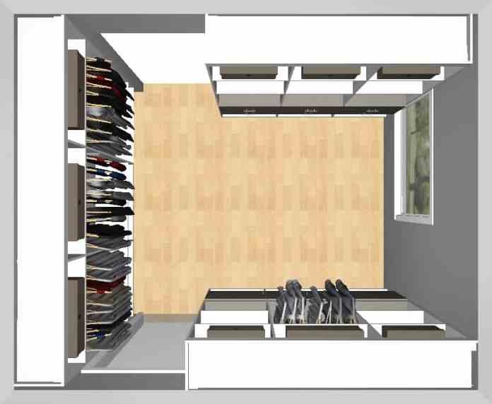 California Closets closet design plan