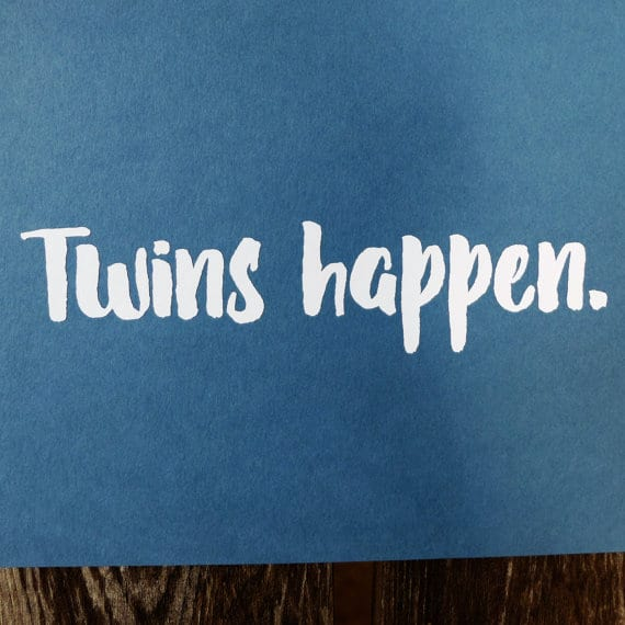 Twins Happen Decal