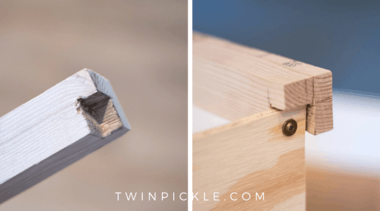 Build a DIY Toy box with chisel corners