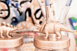 DIY Dinosaur Mason Jars