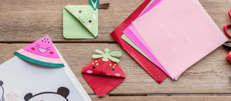 Fruity Kawaii Bookmark Corners Easy Kid Crafts Twin Pickle