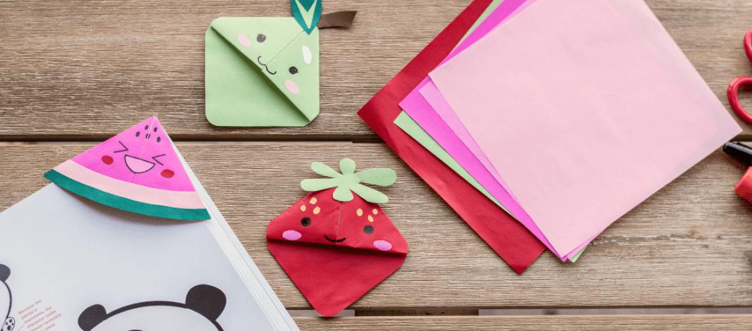 Kawaii Bookmark Corners Easy Kid Crafts