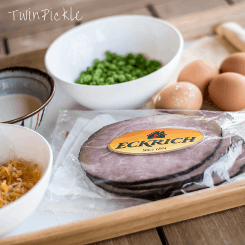 Simple Family Friendly Ham & Pea Quiche Ingredients