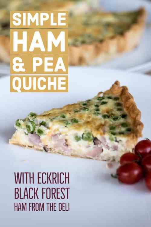 Simple Ham and Pea Quiche