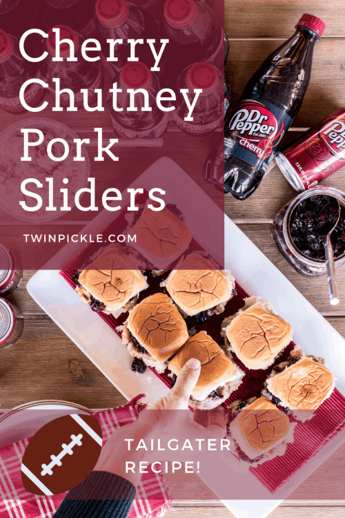 Cherry Chutney Pork Slider Recipe for Tailgater Parties with Dr Pepper