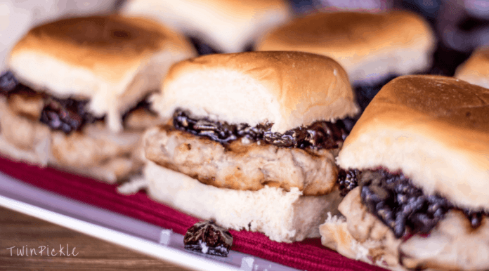 Cherry Chutney Pork Sliders: Tailgater Party Food