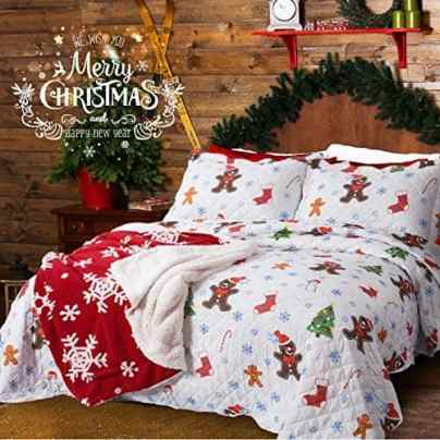 Gingerbread man Christmas kids bedding